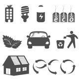 Säubern Sie Umgebungssymbole Stockbilder