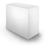 Säubern Sie unbelegten Kasten stock abbildung