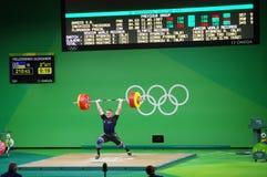 Säubern Sie - und - Ruck durch Oleksandr Pielieshenko an Rio2016 Stockfotos