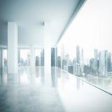 Säubern Sie weißen Großrauminnenraum Stockfoto