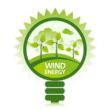 Säubern Sie Wind-Energie Stockbild
