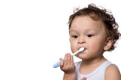 Säubern Sie Zähne. Lizenzfreies Stockfoto