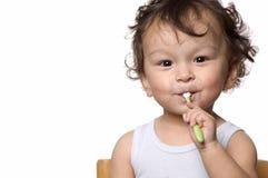 Säubern Sie Zähne. Lizenzfreie Stockfotografie