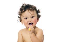 Säubern Sie Zähne. Stockbild