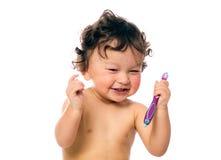 Säubern Sie Zähne. Lizenzfreies Stockbild