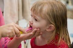 Säubern Sie Zähne Stockfoto