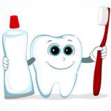Säubern Sie Zahn Stockfoto