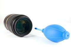 Säubern Sie Zubehörkamera und -objektiv Lizenzfreie Stockfotos