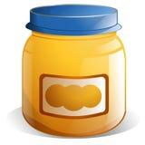 Säuglingsnahrung-Glas lizenzfreie abbildung