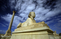 SÄULE AFRIKAS ÄGYPTEN ALEXANDRIA STADT-POMPEY Lizenzfreie Stockbilder