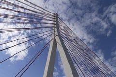 Säule der Brücke verschoben aufgestellt Stockbild