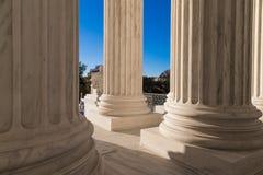 Säulen des Obersten Gerichts von U S Lizenzfreies Stockfoto