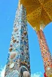 Säulen des Tempels hat ein schönes Muster. Lizenzfreies Stockfoto