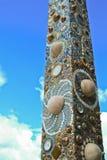 Säulen des Tempels hat ein schönes Muster. Stockfotografie