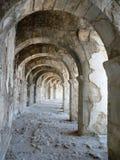 Säulengänge des Aspendos-Amphitheatre, Anatolien Lizenzfreies Stockfoto