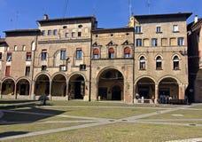 Säulengänge in Stephan-Quadrat - Bologna Stockfotografie
