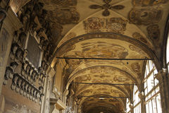 Säulengänge von Bologna Stockfoto