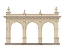 Säulengang mit Ionenpilastern in der klassischen Art 3d übertragen Lizenzfreies Stockfoto