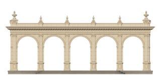 Säulengang mit Ionenpilastern in der klassischen Art 3d übertragen Lizenzfreie Stockfotos