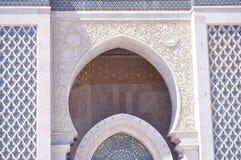 Säulengangauslegung von HassanII Moschee, Casablanca Stockbild