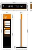 Säulengangwegweiser Lizenzfreies Stockfoto