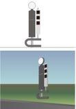 Säulengangwegweiser Stockbild