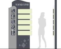Säulengangwegweiser Stockbilder