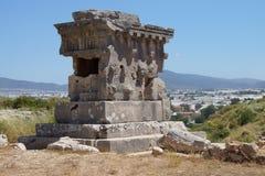 Säulengrab der alten Stadt Stockfotografie