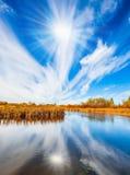 Słaby północny jesieni słońce zdjęcia royalty free