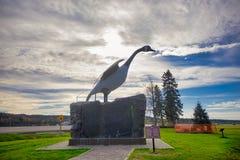 Sławna Wawa gigantyczna gęsia statua w Ontario, Kanada zdjęcie royalty free