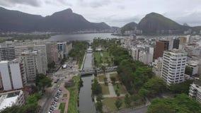 Sławni kwadraty świat Widok z lotu ptaka set kwadraty znać jako ogród Allah Rio De Janeiro Brazylia zdjęcie wideo