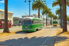 Sławni miasto tramwaje w San Francisco obrazy royalty free