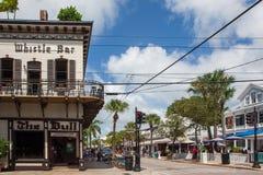 Sławny gwizd bar w downton Key West zdjęcia stock