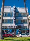 Sławny koloni art deco hotel, południe plaża zdjęcia stock