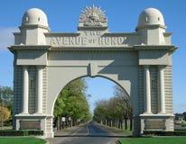 Sławny wojenny pomnik, łuk zwycięstwo w Ballarat, Australia zdjęcia stock