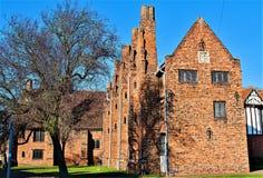 Słońce i cienie ciskamy przez Gainsborough Stary Hall 5, Lincolnshire obraz royalty free