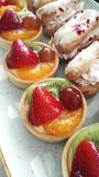 Słodki deseru torta wybór zdjęcia royalty free