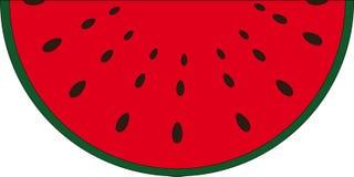 Słodkiego melonu owoc z czerwonymi ciałami royalty ilustracja
