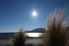 Słoneczny dzień na jeziorze obraz stock