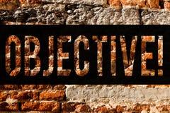 Słowa writing teksta cel Biznesowy pojęcie dla celu planującego dokonującym Pragnął cel firmy misji ściany z cegieł sztukę jak zdjęcie royalty free