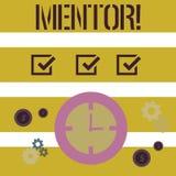 Słowa writing teksta mentor Biznesowy pojęcie dla osoby która daje radzie lub poparciu młody mniej doświadczony royalty ilustracja