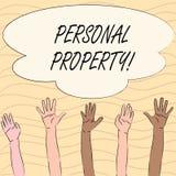 Słowa writing teksta Osobista własność Biznesowy pojęcie dla należeń posiadań wartości osoby prywatnej właściciela royalty ilustracja