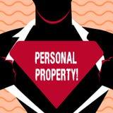 Słowa writing teksta Osobista własność Biznesowy pojęcie dla należeń posiadań wartości osoby prywatnej właściciela ilustracja wektor
