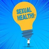 Słowa writing teksta Plciowi zdrowie Biznesowy pojęcie dla STD zapobiegania Używa ochron przyzwyczajeń płci Zdrową opiekę royalty ilustracja