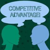 Słowa writing teksta przewaga konkurencyjna Biznesowy pojęcie dla posiadać ilość która gwarantuje ciebie prowadzi w polu ilustracja wektor