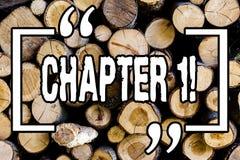Słowa writing teksta rozdział 1 Biznesowy pojęcie dla Zaczynać coś nowego lub robić dużym zmianom w ones podróży Drewniany tło zdjęcie stock