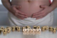 Słowo LOCHIA komponujący drewniani listy zdjęcia royalty free