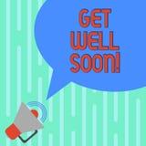 Słowo pisze tekscie Dostaje Dobrze Wkrótce Biznesowy pojęcie dla Życzyć ciebie lepszy zdrowie niż powitania teraz dobry życzenie  ilustracji