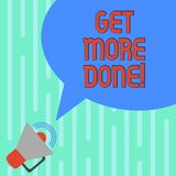 Słowo pisze tekscie Dostaje Robić Biznesowy pojęcie dla lista kontrolna Organizującego czasu zarządzania początku ciężkiej pracy  ilustracja wektor