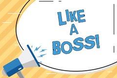 Słowo pisze tekscie Jak szef Biznesowy pojęcie dla Postępować tak jakby ty jesteś jeden daje rozkazami w pracie lub sytuacji royalty ilustracja